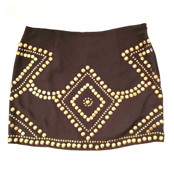 Remain Dresses & Skirts - ✨Remain Black with Bronze Metal Bead Mini Skirt